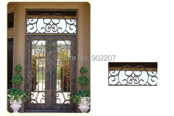 Get Quotations · Wrought Iron Entry Door Manufacturer Model Hench Ied14