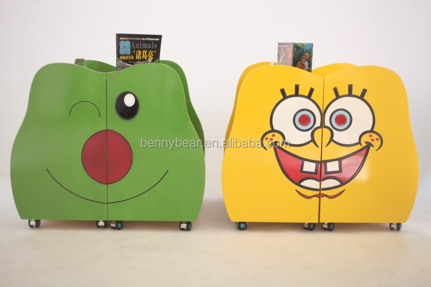 Nursery School Furniture SpongeBob Shaped Wooden Book Case