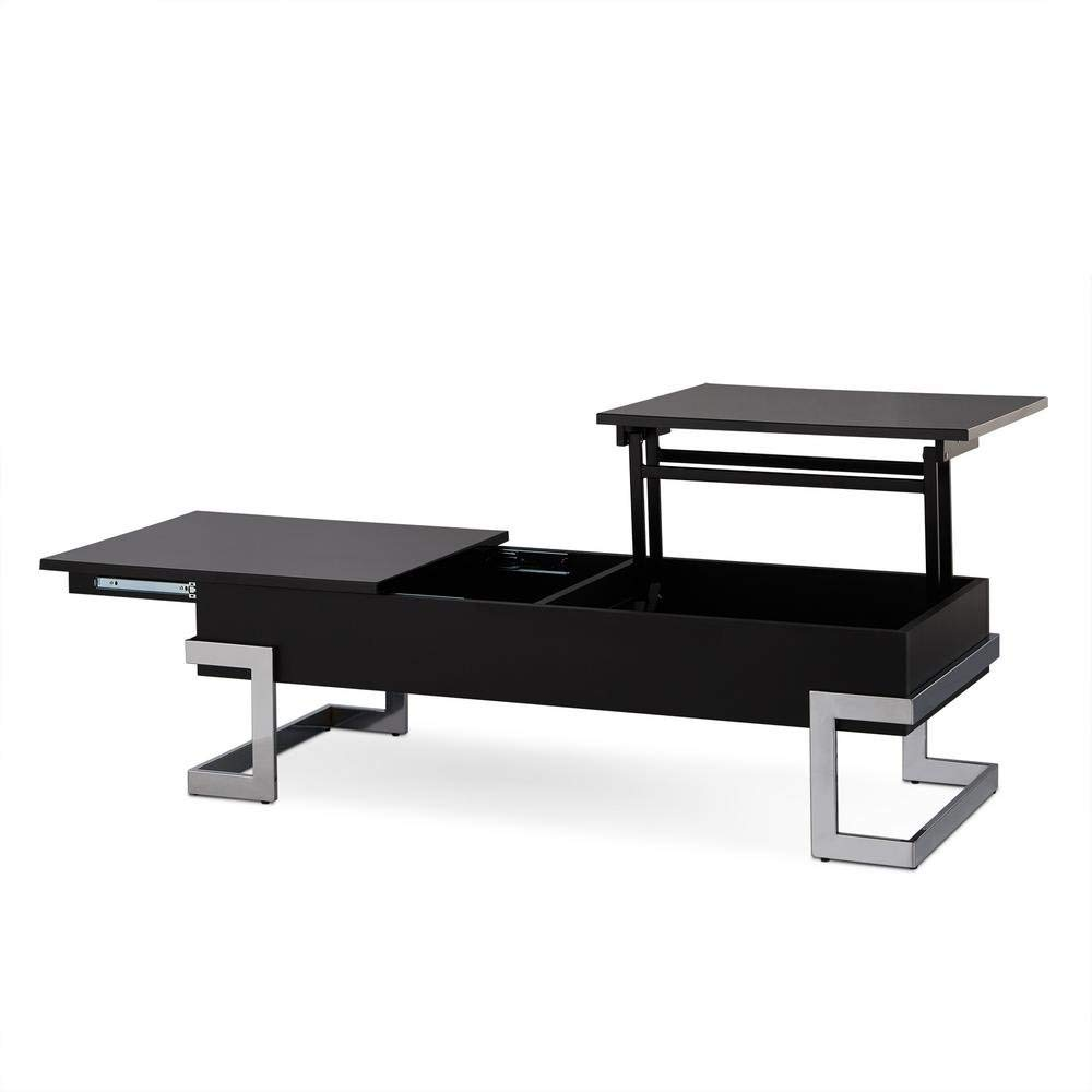 Major-Q Convertible Lift Top and Sliding Top Coffee Table In Gloss Black (MQ-81855)