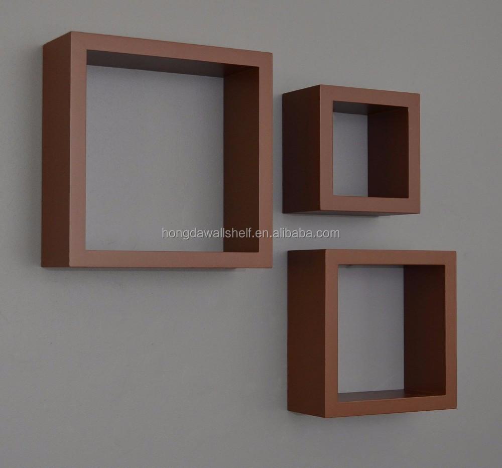 Houten drijvende muur kubus plank andere houten meubelen product ...