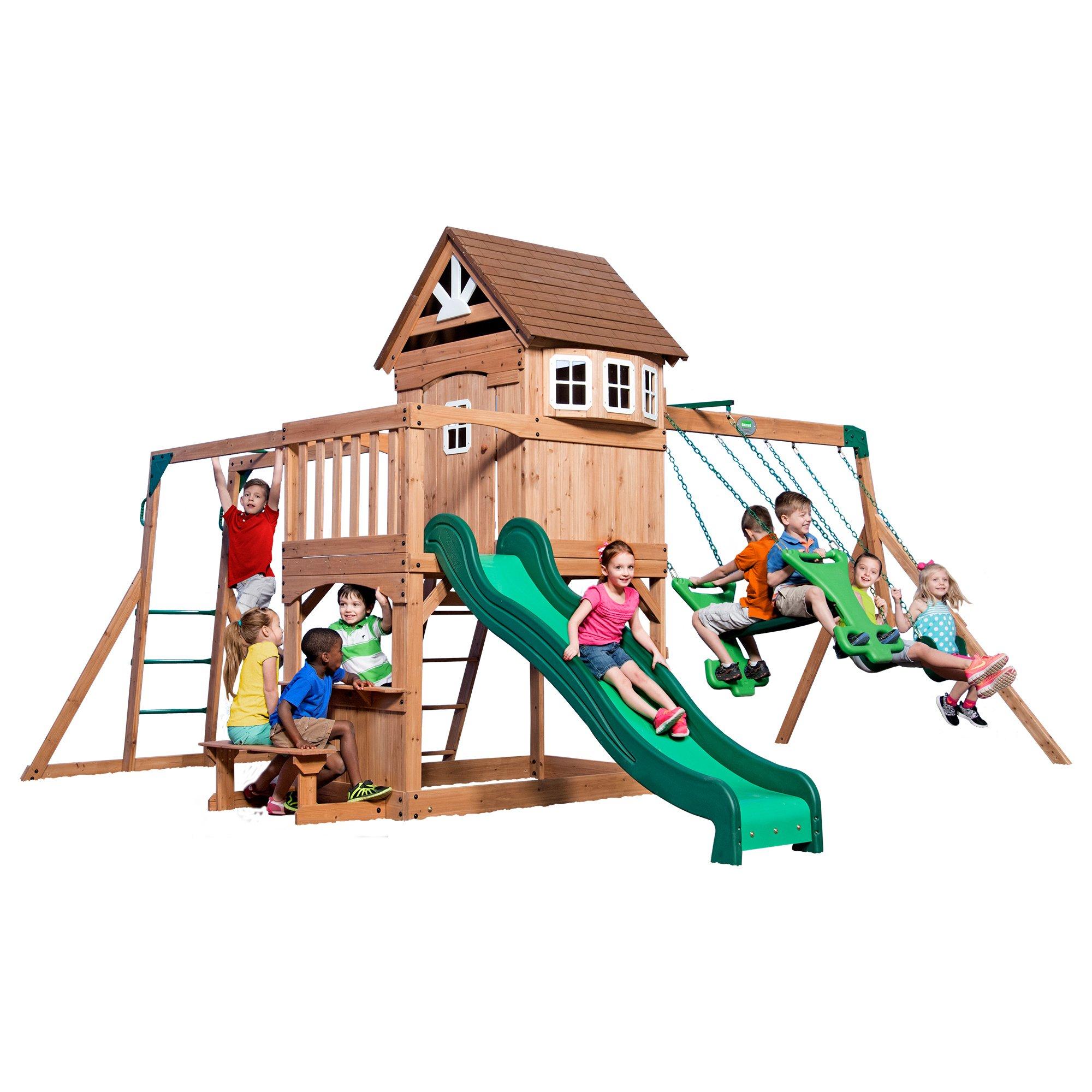 Buy Backyard Discovery Montpelier Cedar Wooden Swing Set ...
