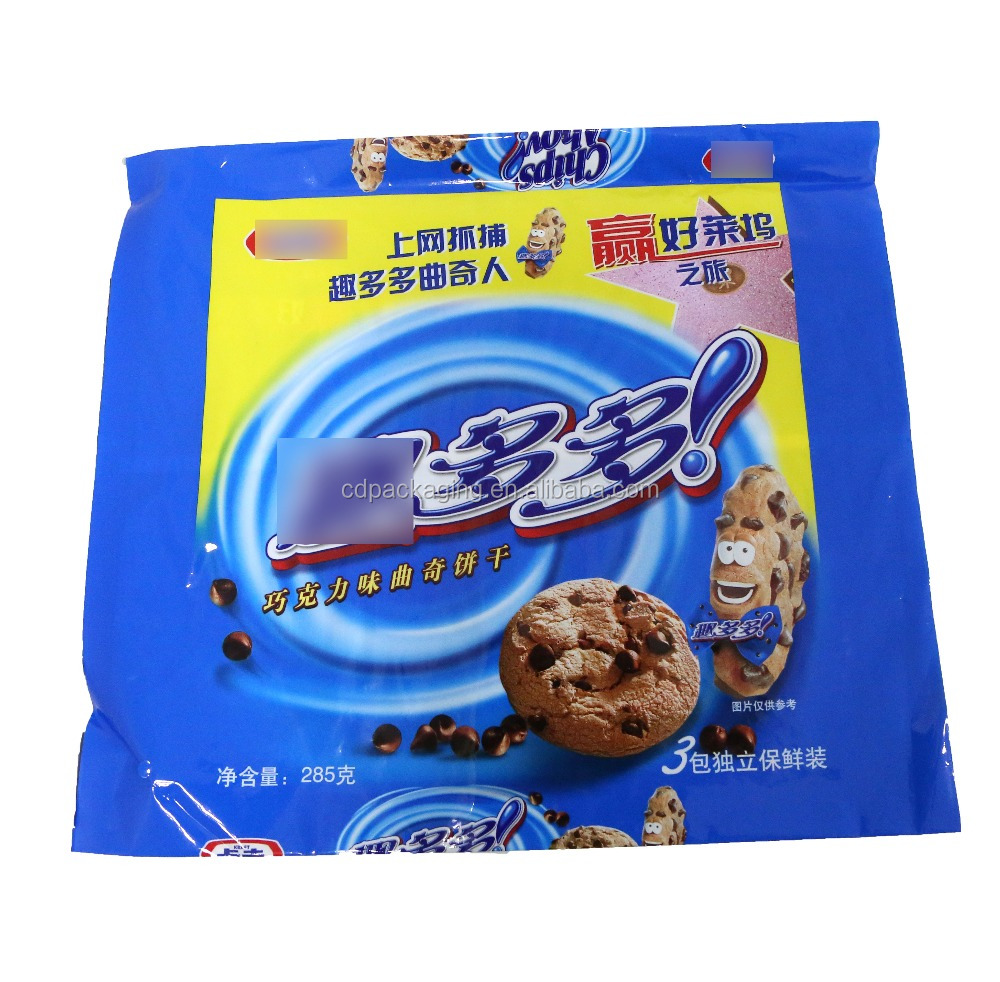 Laminated Material and Accept Custom Order plastic biscuit bag packaging