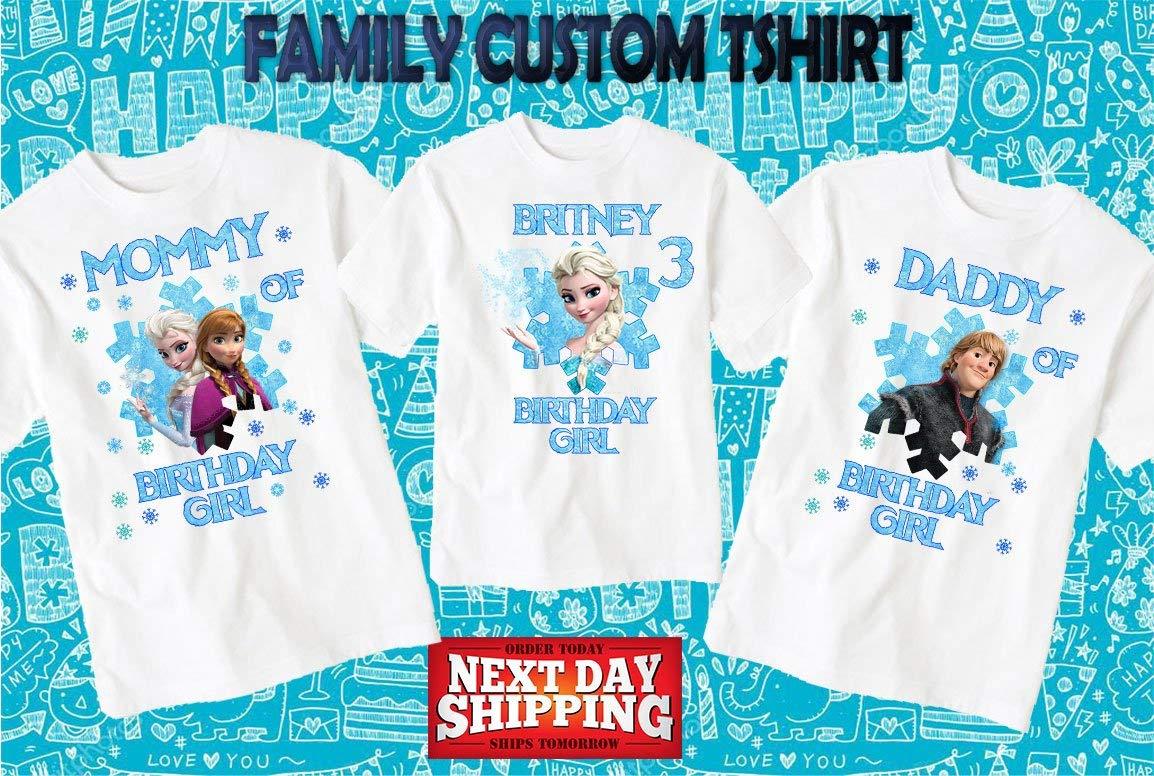 Frozen Birthday ShirtCustom Shirtpersonalized Custom Shirt Family Shirtbirthday