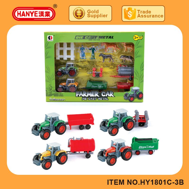 1801c 3b diecast gliding farmer car toys for kids