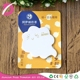 Colorful printed brand customising cute sticky notes cloud shaped card memo pad