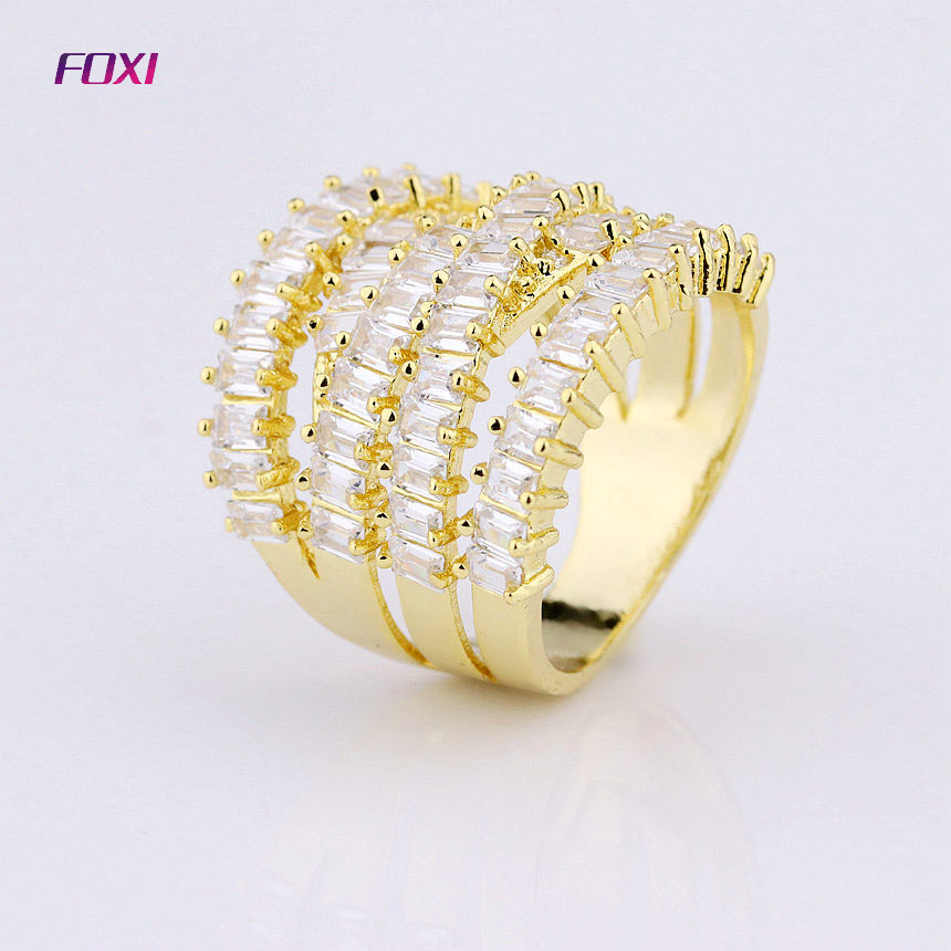 FOXI manufacturer zirconia baguette diamond rings jewellery