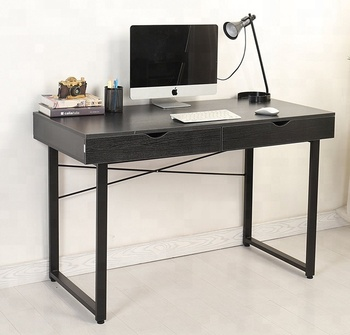 Simple Office Desk Workstation Wooden Computer Desk PC Laptop Study Writing  Table With Drawers Home Office