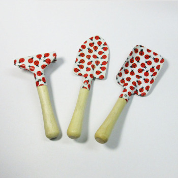 floral printed mini size children kids garden tools