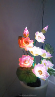 New design decoration items for home, fiber optic home decor flower in vase