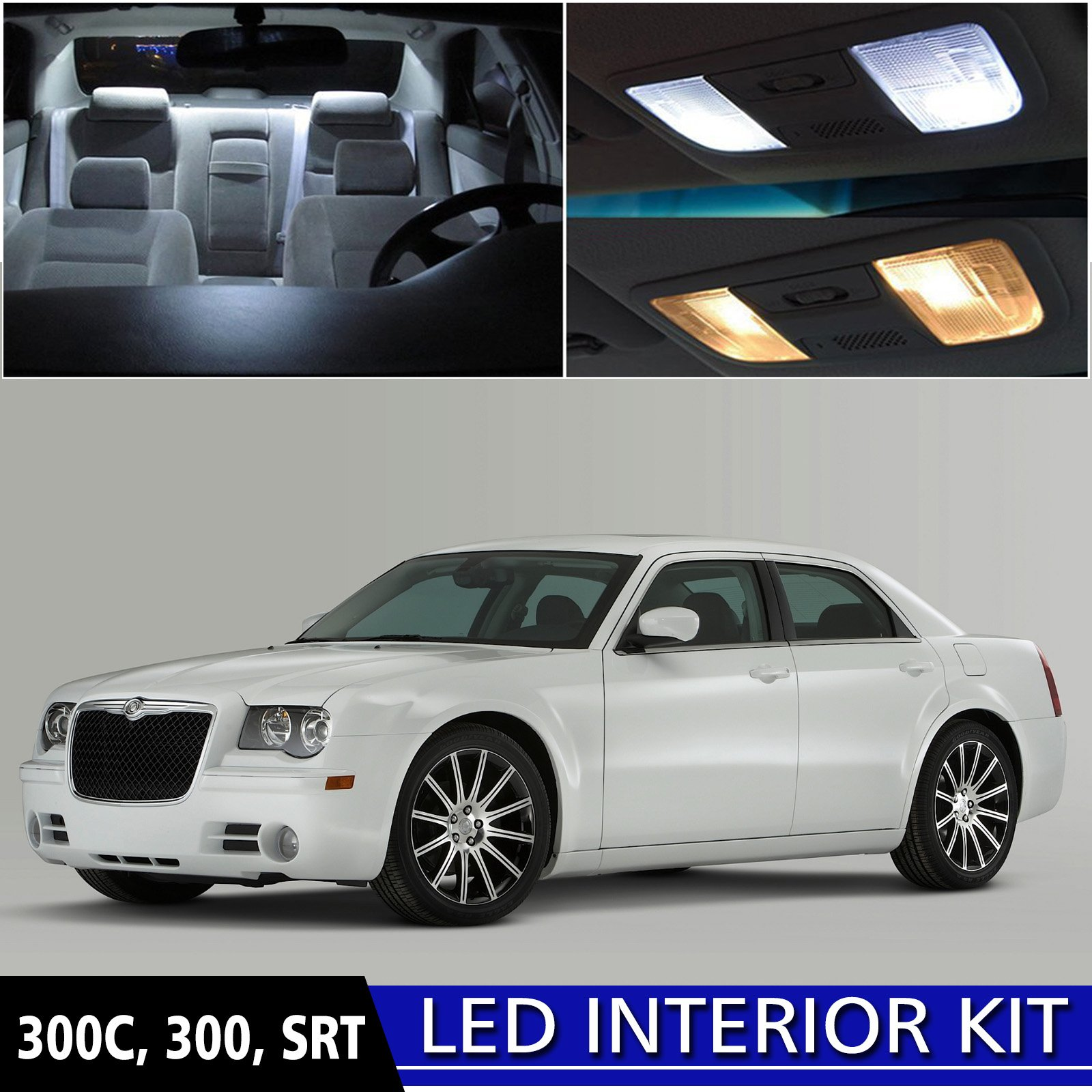 Get Quotations Ledpartsnow 2005 2010 Chrysler 300 Led Interior Lights Accessories Replacement Package Kit 12 Pieces