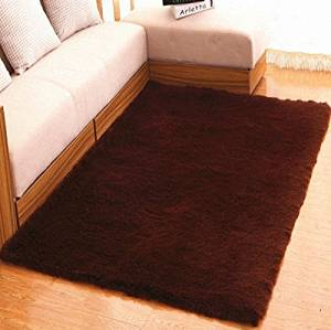 Prettyrug Ultra Soft 4.5 CM Thick Indoor Morden Area Rugs Pads for [Bedroom] [Livingroom] [Sitting-room] [Rugs] [Blanket] [Footcloth] [Blanket] [Footcloth] [Blanket] [Footcloth] (coffee, 50*80)