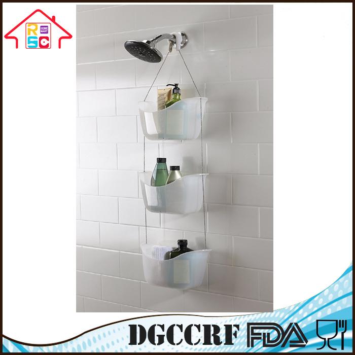 Plastic Shower Caddy Hanging Organizer Bath Bathroom Holder Hanger ...