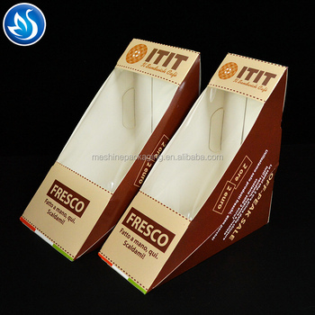 Customized Food Sandwich Packing Box with Window