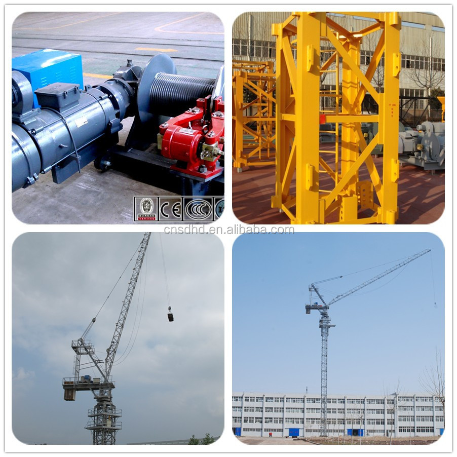 Luffing Tower Crane/6t luffing tower crane/QTD80 tower crane for sale