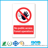 outdoor safety signs coroplast signs plastic signs