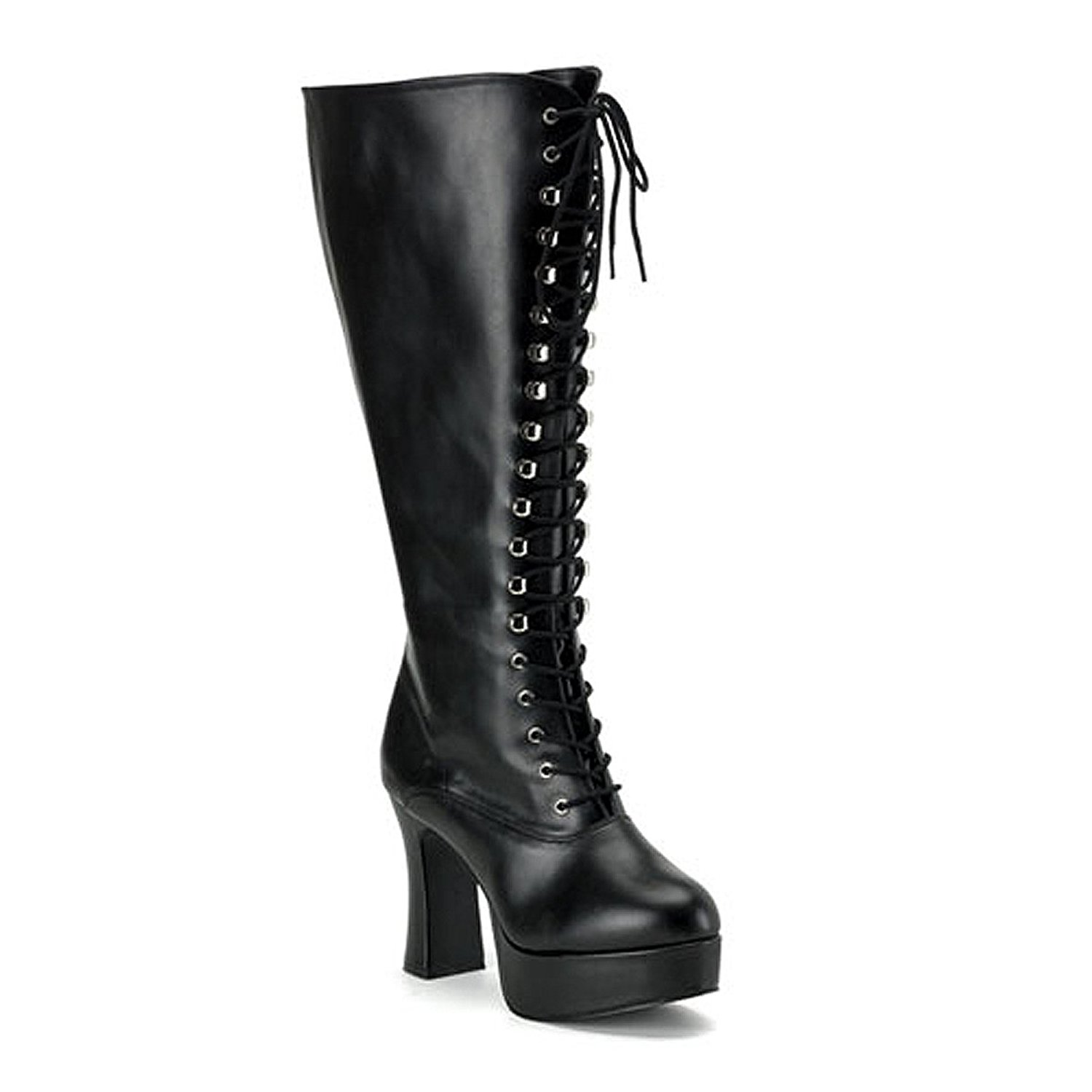 c24ff0982d912 Get Quotations · Womens PLUS SIZE 4 Inch Sexy WIDE WIDTH WIDE CALF Platform Knee  High Boot Black