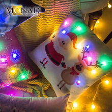 Monad reliable quality Christmas led cushion fabric textile led cover cushion led bed cushion