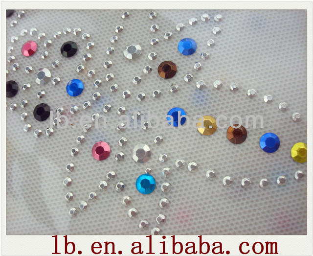 star/other shape hot sale wholesale new fashion high quality colorful red/pink/green/blue/gold heat transfer rhinestuds