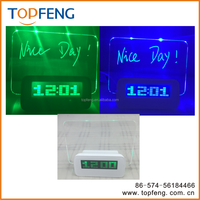 table desk LED Light night alarm clock with memo board/led message board alarm clock