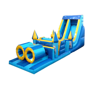 Cheap two ways inflatable yellow persons water slide