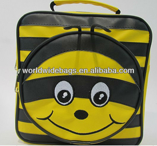 Leather Cute Frog Shape Lunch Cooler Bag For Kids (WW08-0339)