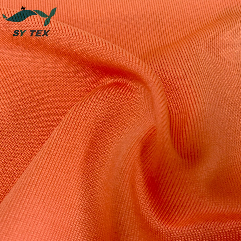 Soft touch knitted stretch polyester micro fiber fabric, peach finished milk silk fabric