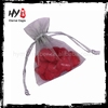 Hot sale fashionable wholesale custom organza pouches with CE certificate