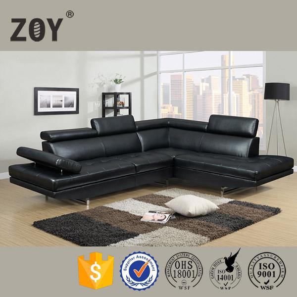De cuero moderno living sala de sof de la esquina muebles - La forma muebles ...