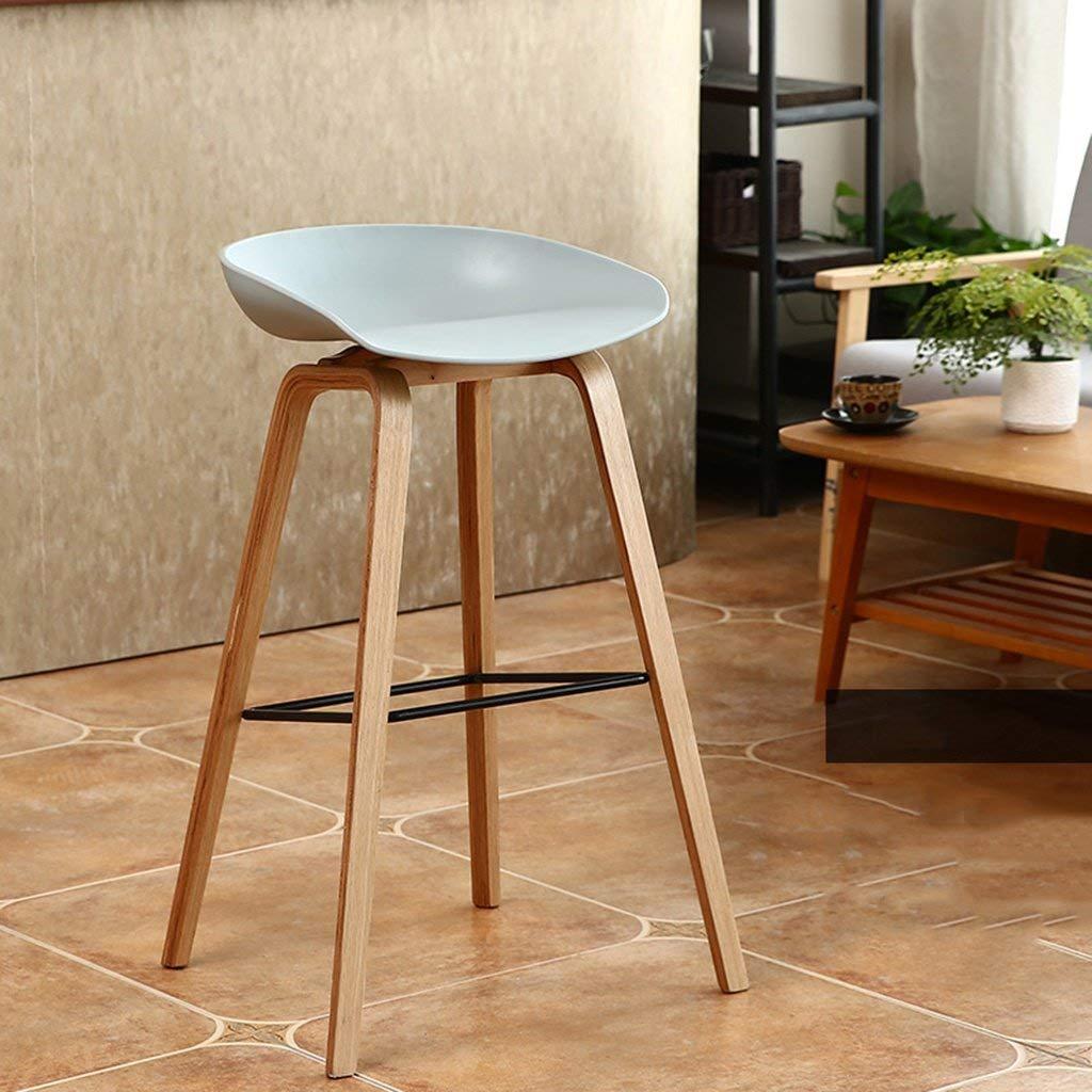Cqq Bar Chair Wooden Chairs Creative Modern Minimalist Tall Stool