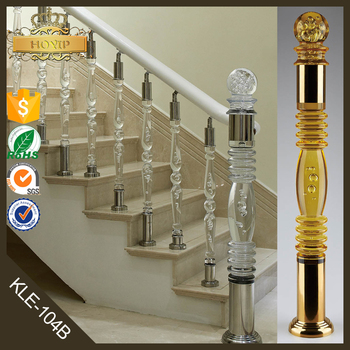Acrylic Stair Post Plexiglass Rod Clear Stair Handrail Crystal Glass Stair  Pillar
