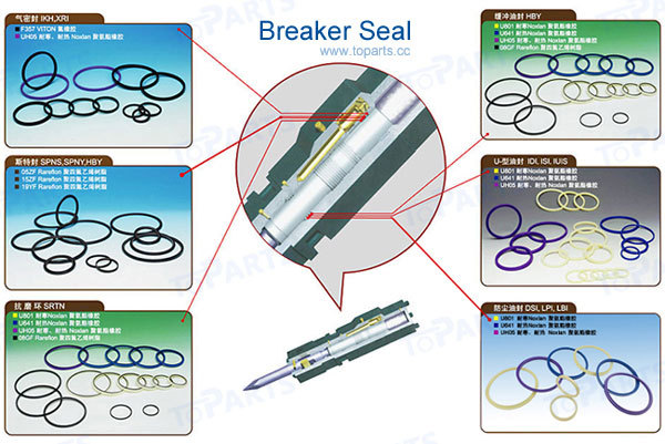 MSB MS550H Hydraulic repair kit Breaker Seal kit For MSB MS550H Hydraulic Hammer