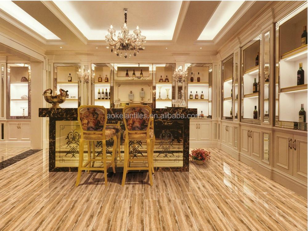 Cm effetto legno opaco ceramica pavimento di piastrelle per