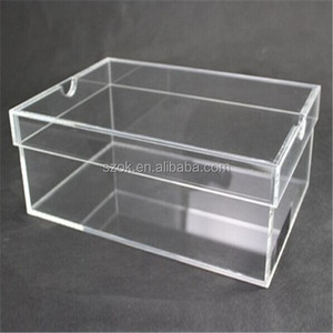 Luxury clear plastic acrylic adidas shoe box for sale