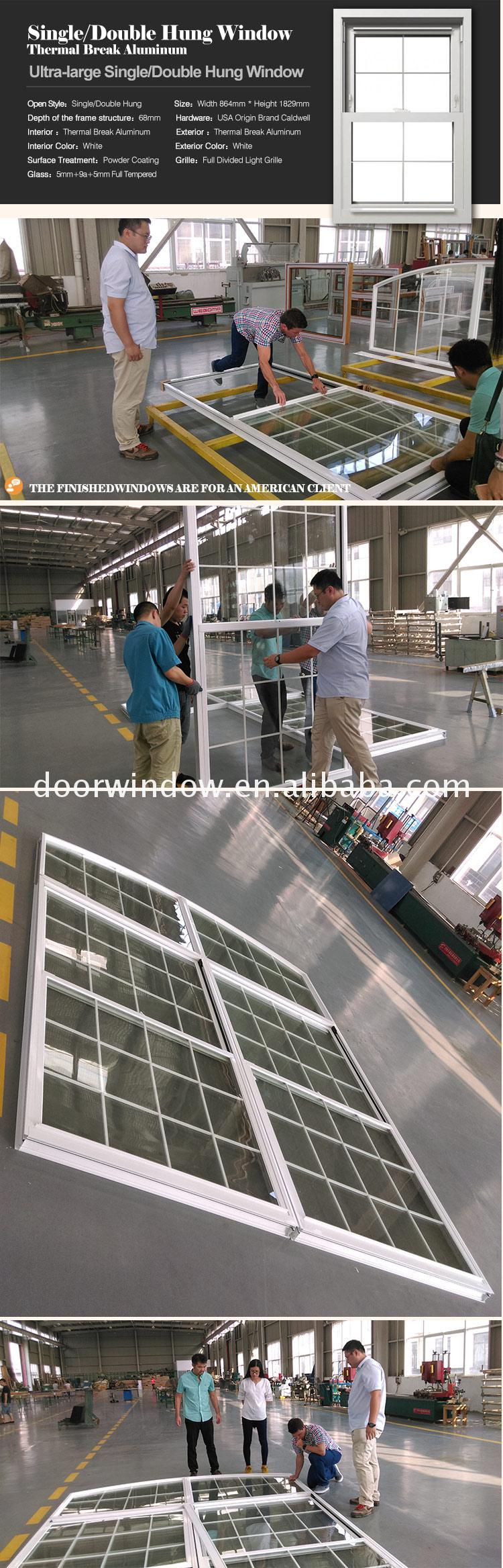 Factory direct selling double single hung window pane windows with grilles