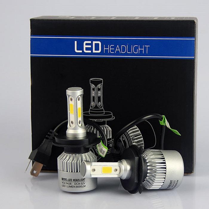 S2 H4 HB2 9003 led xe đèn pha COB 72 W 8000LM xe đèn pha led