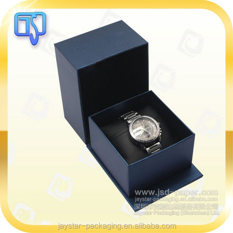 Blue mystery color women's lady packaging sturday cardboard watch gift box