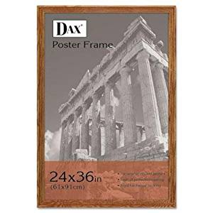 """Dax - Plastic Poster Frame Traditional Clear Plastic Window 24 X 36 Medium Oak """"Product Category: Office Furniture/Frames & Plaques"""""""