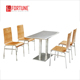 Economical company dining hall canteen table chairs furniture for working staff(FOH-BC28)