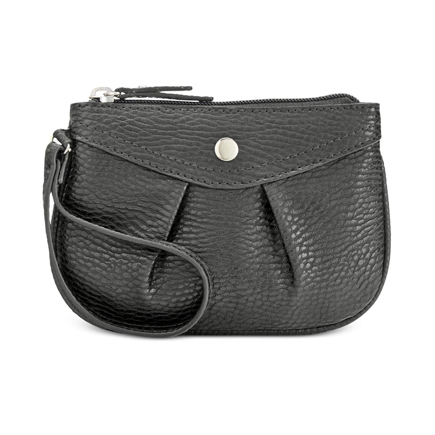 Style & Co. Womens Hannah Faux Leather Wristlet Coin Purse