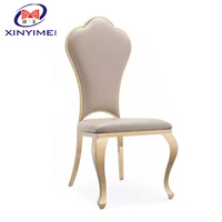 2020 latest design modern dining chair gold stainless steel banquet chair