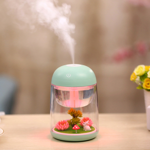 Home Appliances dc 5v tabletop decorative ultrasonic humidifier with landscape