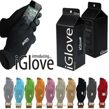 hot selling black color wool gloves for touchscreen iglove