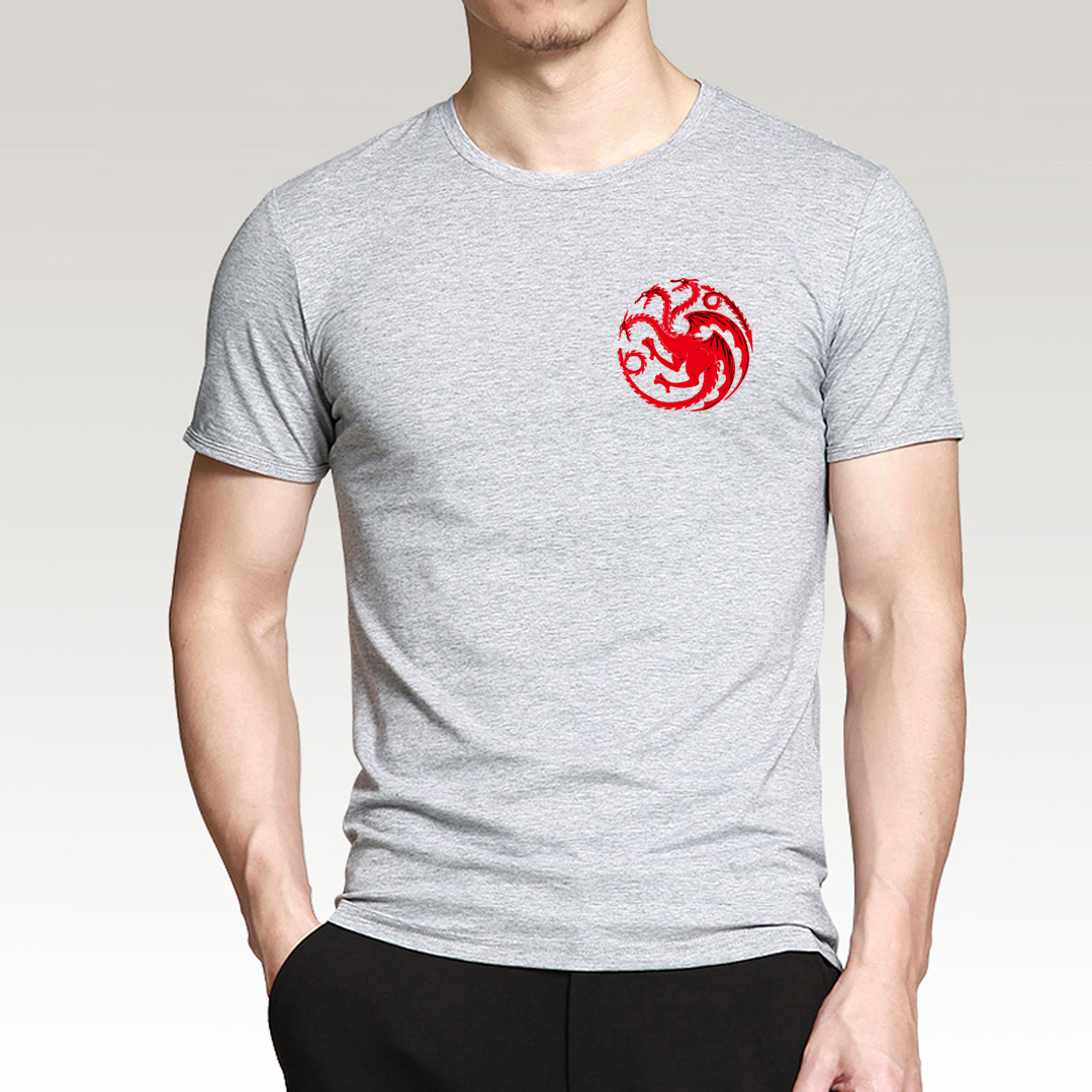 08e966591 Game of Thrones Targaryen Fire & Blood Men T Shirts 2017 Summer Men Short  Sleeve Shirts 100% Cotton High Quality T-Shirts S-3XL - us639