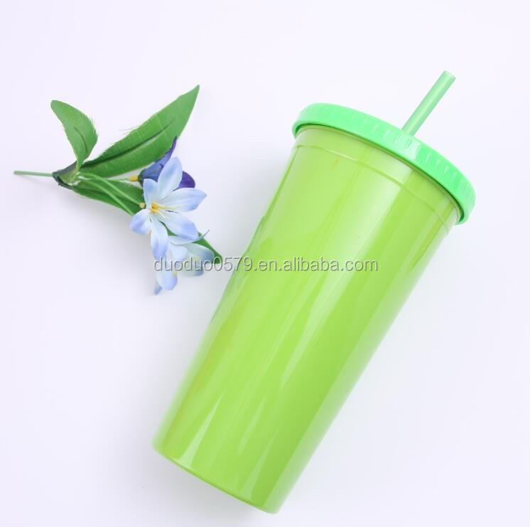 BB005 Portable ice cream cup double wall plasitc cup wholesale mug