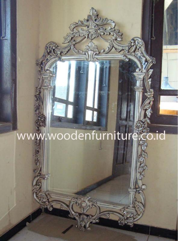 Reproducci n antigua espejo marco cl sico caoba madera pintada accesorios estilo franc s vintage - Muebles pintados en plata ...