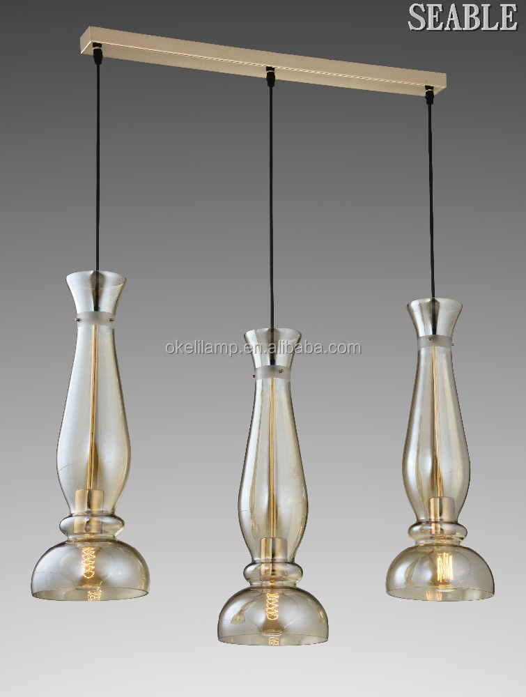 Newest E27 pendant light hot sale glass material pendant