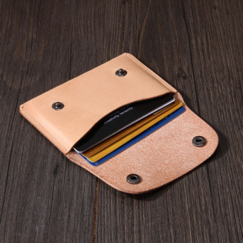 Italian Leather Wallet Card Holder Handmade Custom Business European Style Genuine