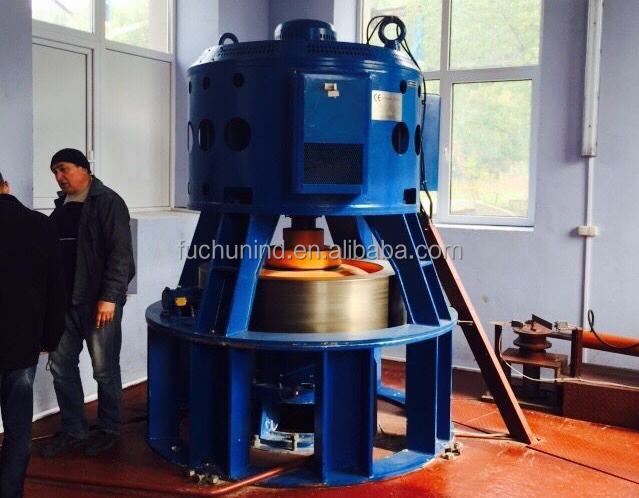 185kW Small Vertical Kaplan Turbine / Cross Flow Turbine and Hydro Electric Generator