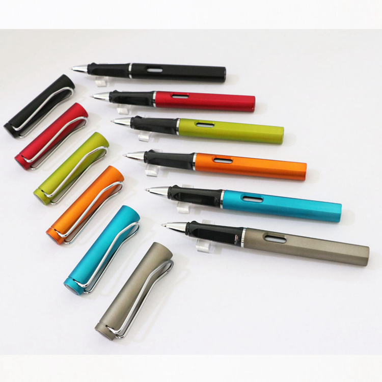 Manufacturing Company Multi Color Fashion Office Style Custom Logo Gel Pens With Cap
