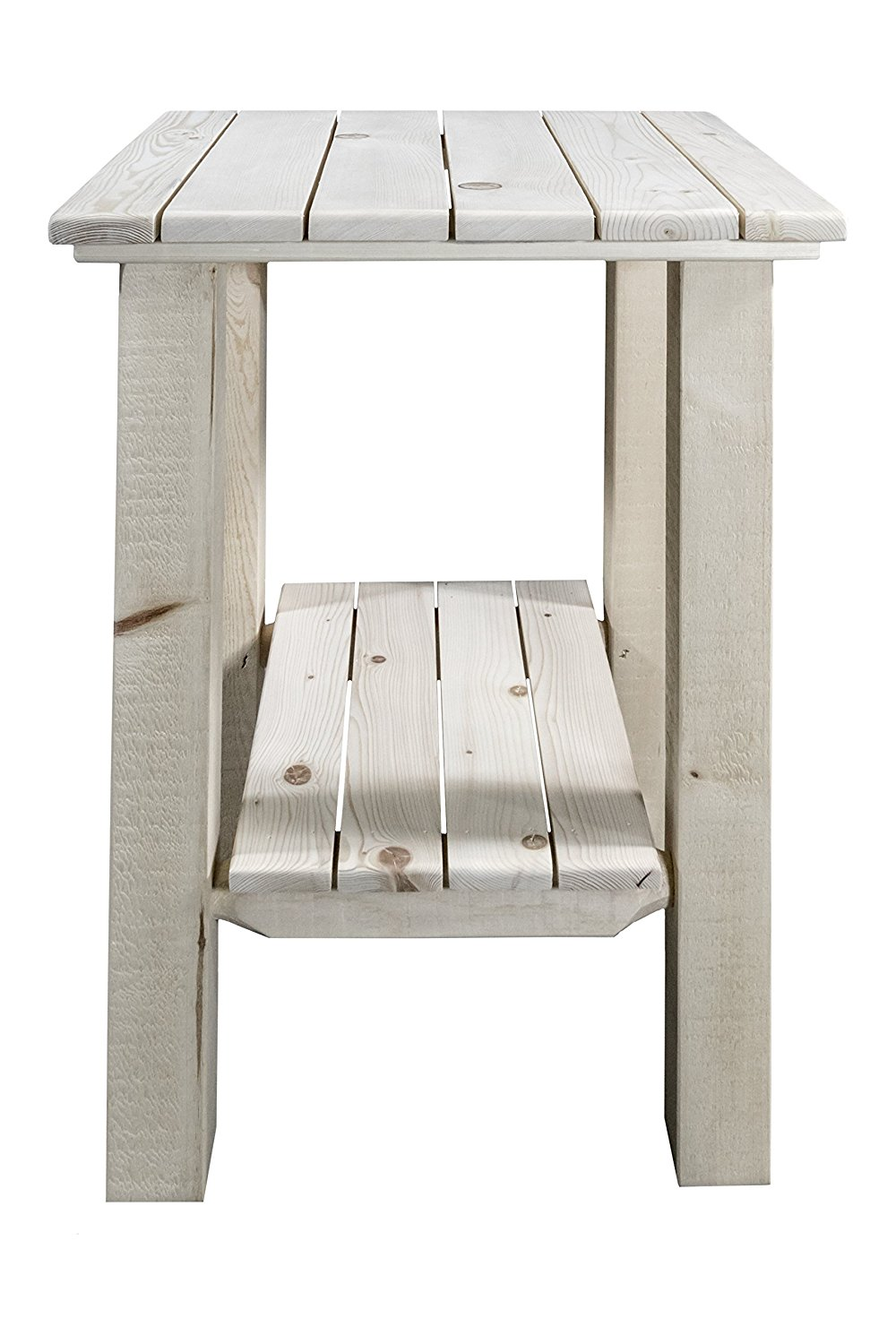 Montana Woodworks Homestead Collection Exterior End Table, Ready to Finish